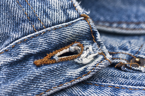 Jeans Buttonhole (Flickr user: Muffet)