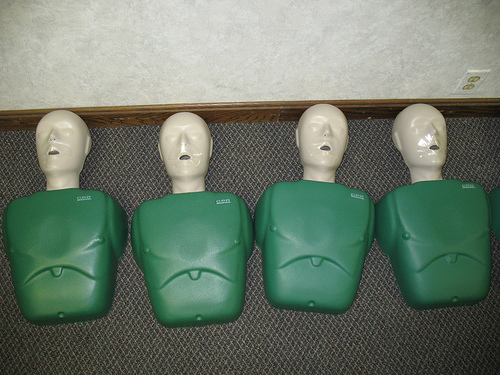 CPR Dummies (Photo by Flickr user sporkwrapper)