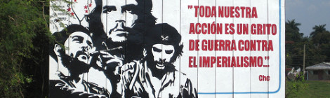"""Che"" image by Flickr user Tona & Yo (trans: ""All our action is a battle cry against imperialism"")"
