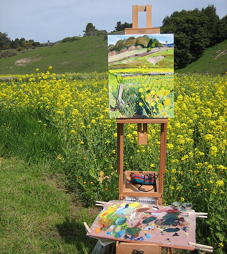 """Easel in Paradise. Bolinas, CA"" image by Flickr user Colleen Proppé"