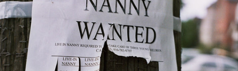 """Nanny Wanted"" image by Flickr user Dan Iggers"