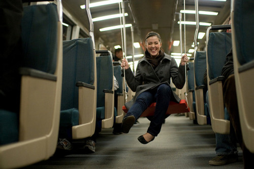 """swings on BART"" image by Flickr user Audrey Penven"