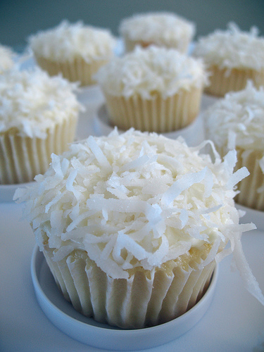 """Coconut Cupcakes"" photo via Flickr user Phil King"